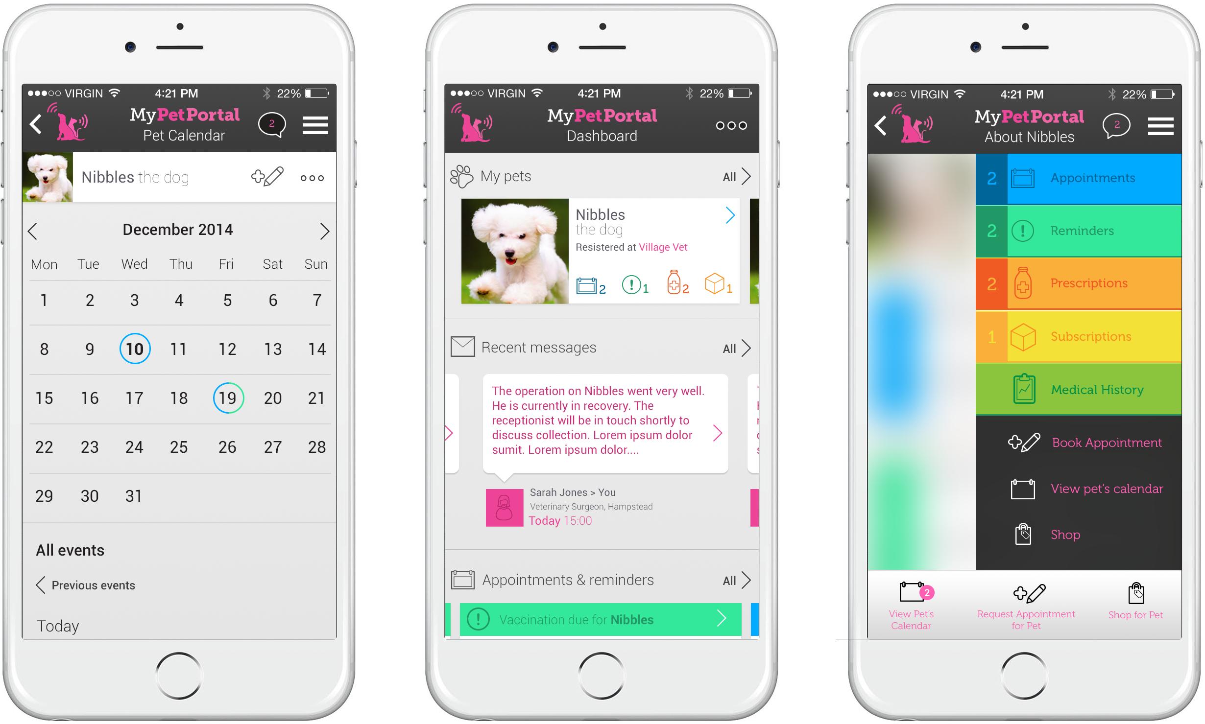 My PetPortal app design