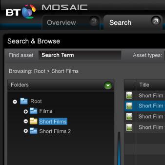 Mosaic UI design