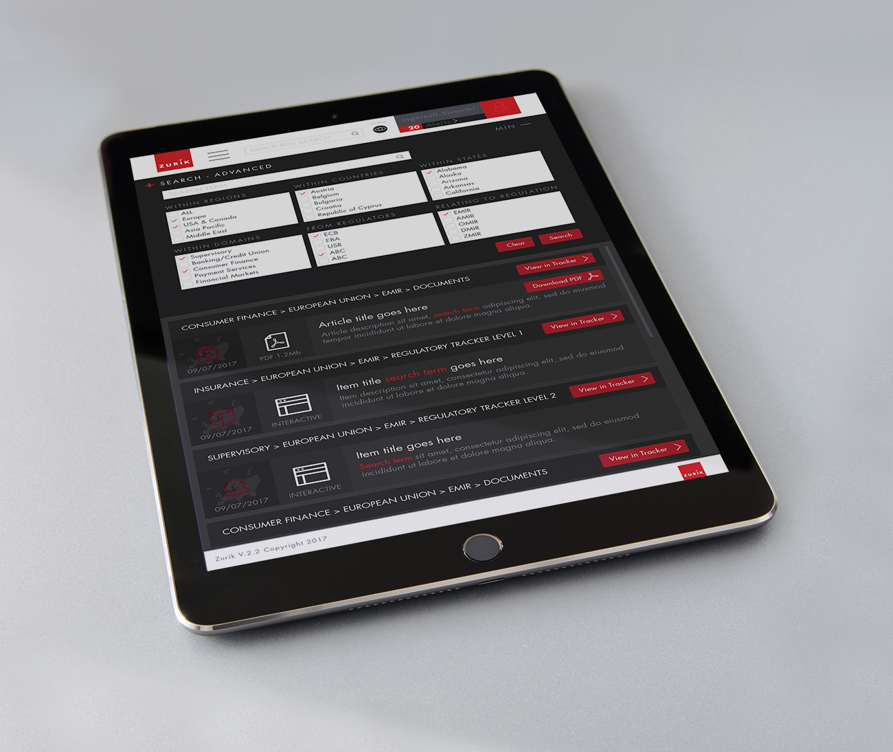 Zurik-UI-iPad